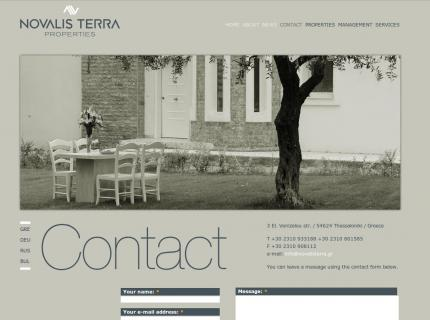 Website Novalis terra - Contact