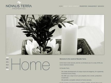 Website Novalis terra - Home