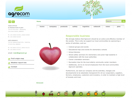 Website Agrocom - Responsible Business