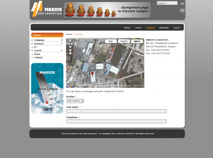 Website Makios Logistics - Contact