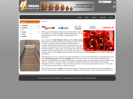 Website Makios Logistics - I.T.
