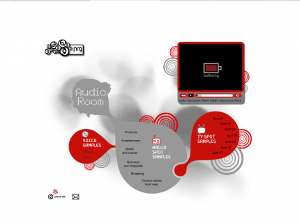 Website Nrg Productions - Audioroom (Portfolio)