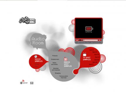 Ιστοσελίδα Nrg Productions - Audioroom (Portfolio)