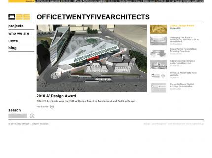 Website Office 25 Architects v2 - Home