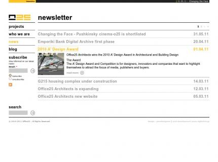 Website Office 25 Architects v2 - News