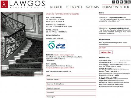 Lawgos Avocats - Contact