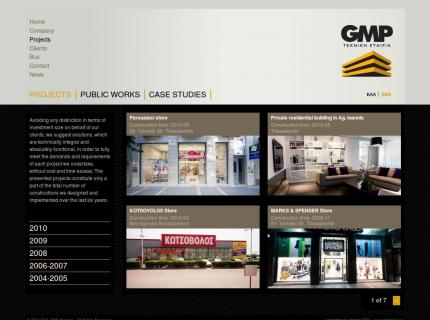Website GMP Partners - Projects